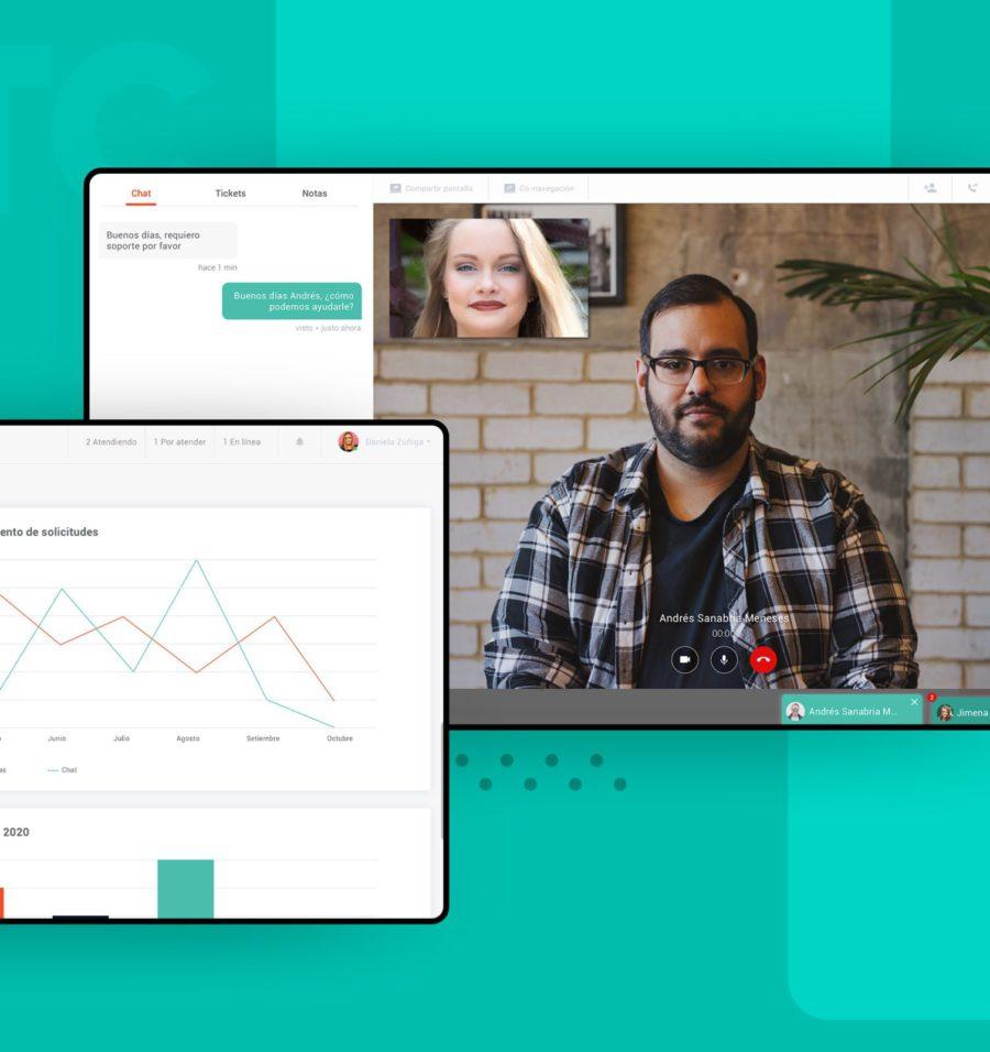 Desarrollo de software para interfaz de videollamada