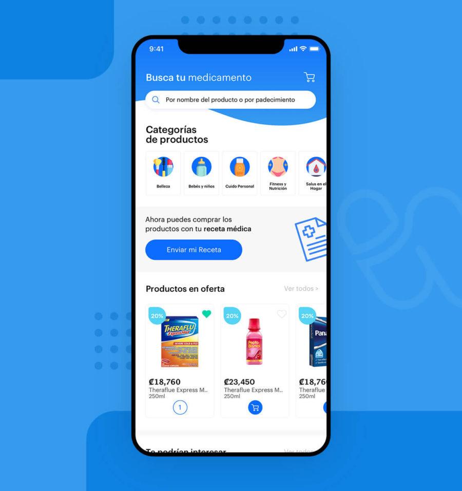 Diseño UX UI para pantalla de inicio de aplicación winu Costa Rica
