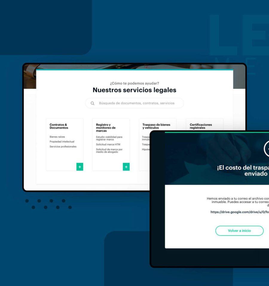 Servicios legales tablet