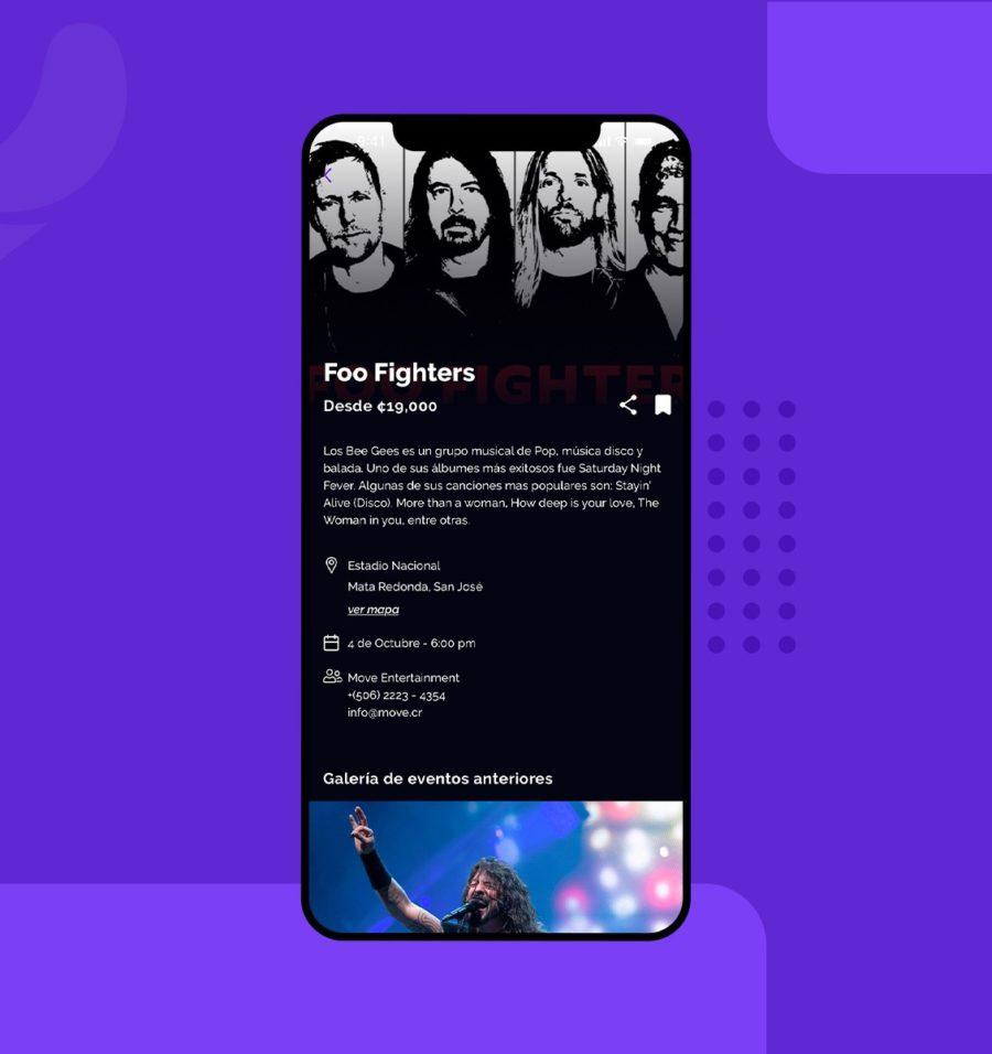 Diseño UX y UI para el detalle de un evento