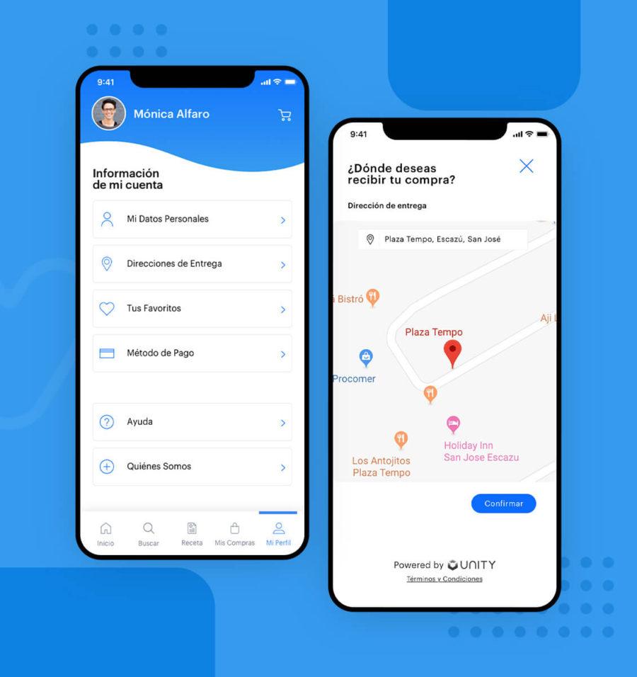 Desarrollo de software para pantalla de perfil y rastreo de compra