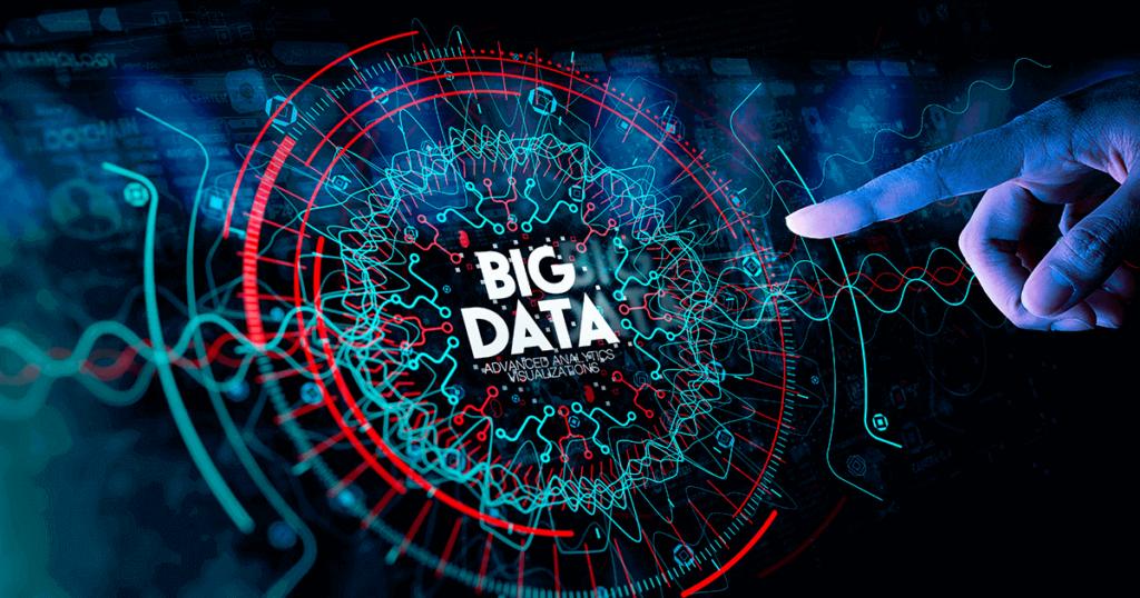 holograma con palabra big data